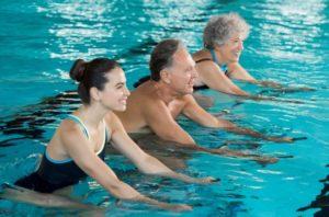 Swim class.